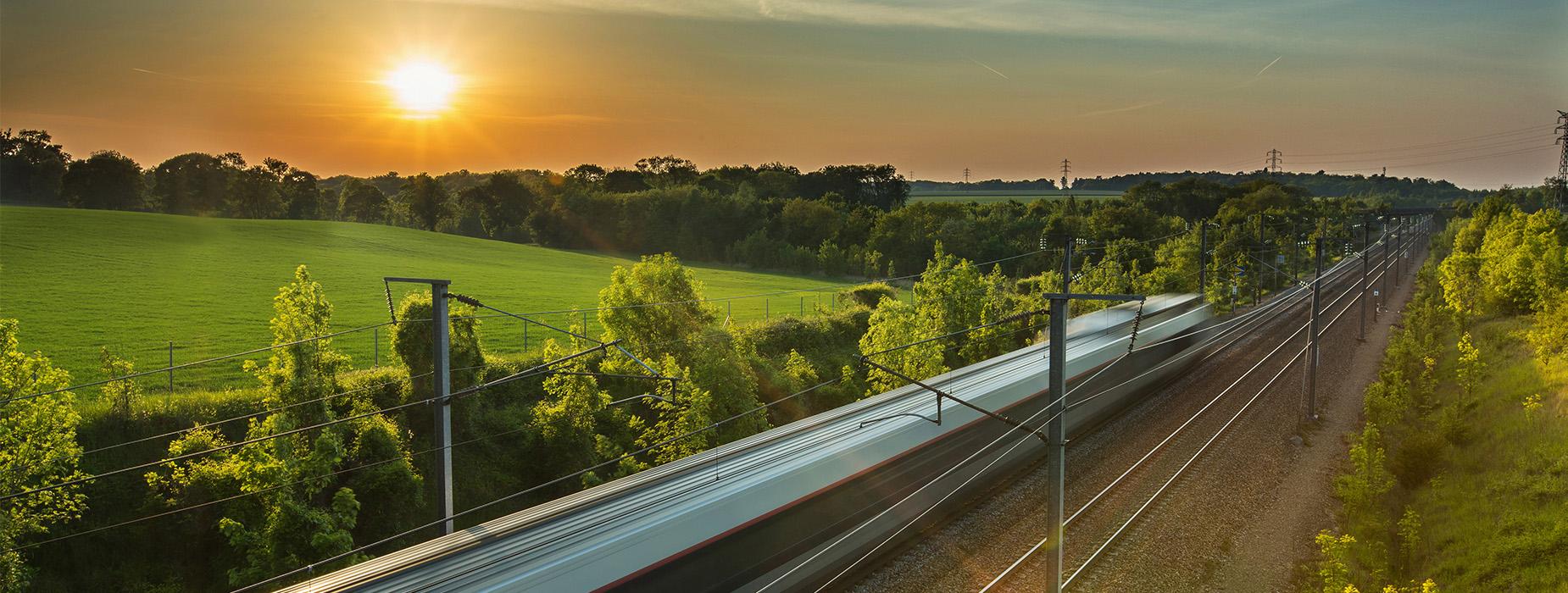 Solar on train lines