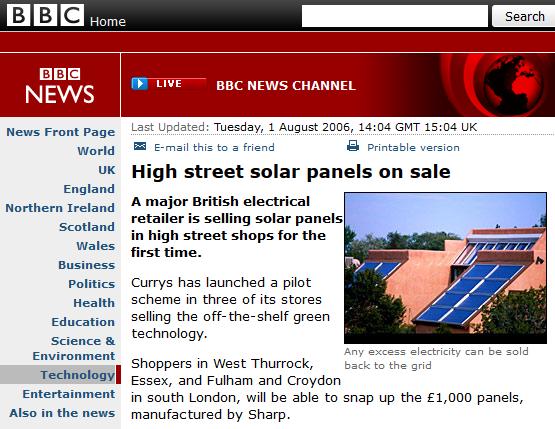 High street solar panels on sale