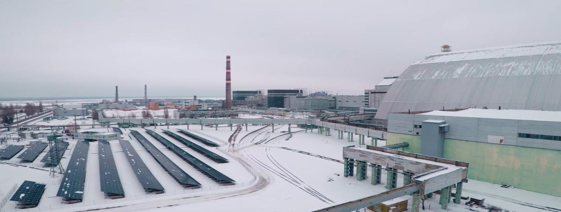 chernobyl disaster site solar farm